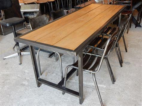 bureau fer et bois table bois et fer forgé wraste com