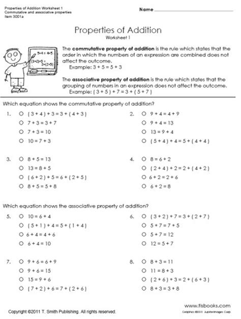 associative property of multiplication worksheets 4th