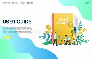 Online User Guide  User Manual Book Stock Illustration