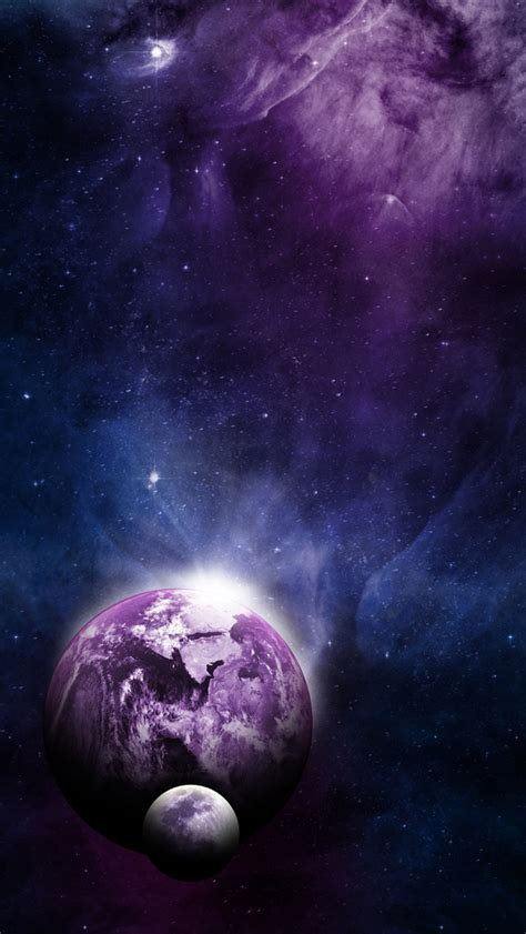 earth moon universe iphone  gs wallpaper