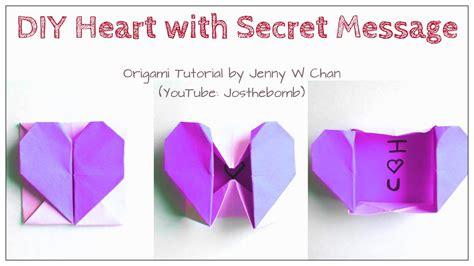 diy origami heart box envelope  secret message pop