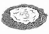 Spaghetti Coloring Printable sketch template