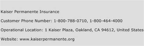 kaiser permanente phone number kaiser permanente insurance customer service number toll