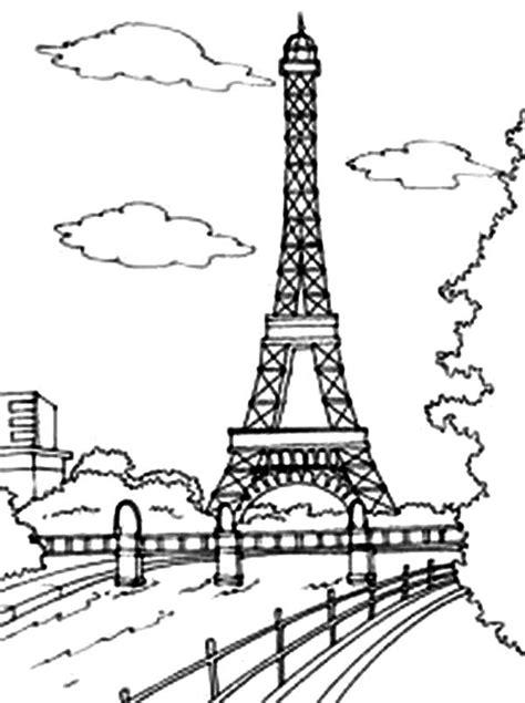 eiffel tower black  white drawing  getdrawings