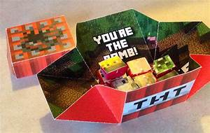 "My Druthers: Minecraft TNT Valentine - Modified ""Exploding ..."