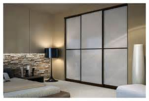 wenge sliding closet doors  white lami glass toronto