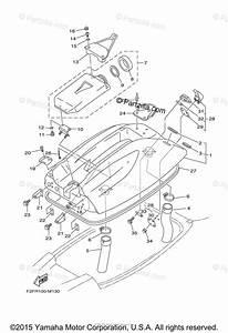 Yamaha Waverunner 2015 Oem Parts Diagram For Engine Hatch
