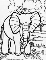 Elephant Coloring Pages sketch template