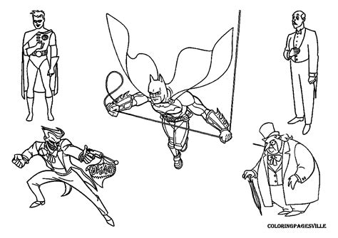 Batman And Joker Coloring Pages