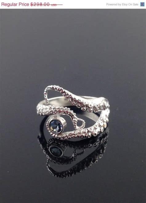 octopus wedding ring valentines sale aquamarine seductive tentacle ring