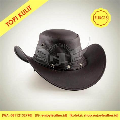 jual tempat topi kulit cowboy pria termurah di garut model