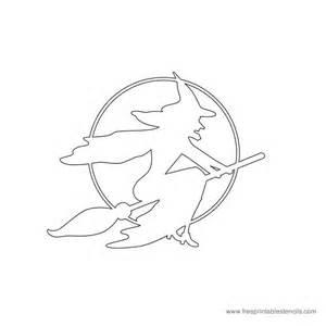 Free Printable Halloween Stencils Witch