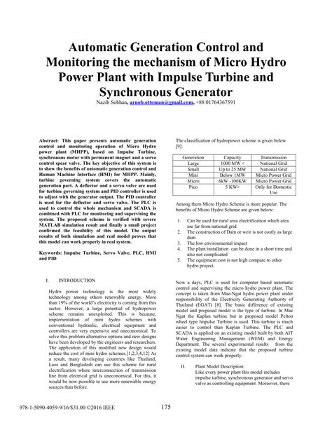 (PDF) Automatic generation control and monitoring the