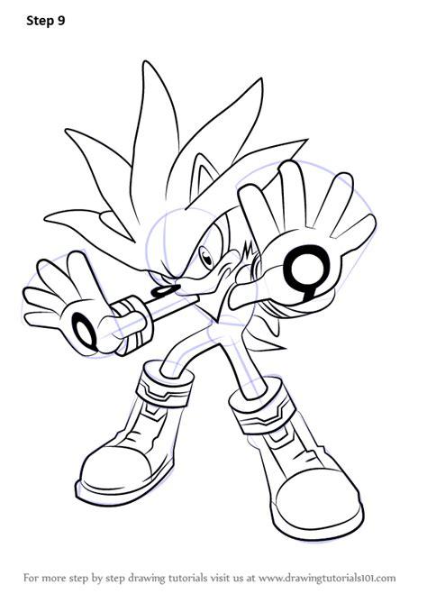 learn   draw silver  hedgehog  sonic