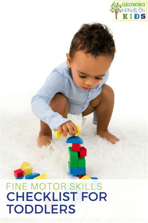 motor skills checklist for preschoolers ages 3 5 535 | fine motor skills checklist for toddlers PIN