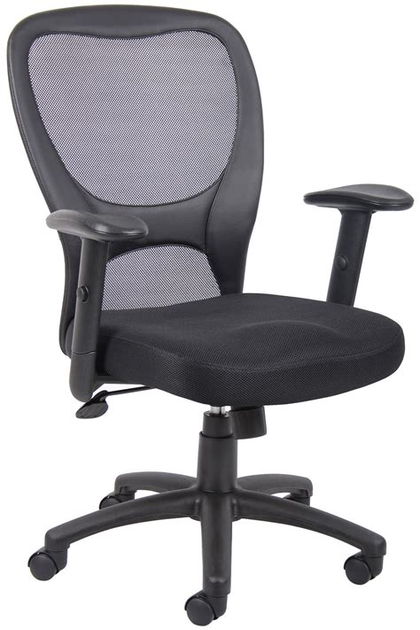 b6508 managers mesh back task chair with fabric