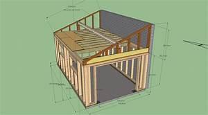 Réalisation garage ossature bois avis et conseil pour finalisation demi ferme, section panne