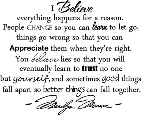 I Believe Everything Happens Reason Quotes