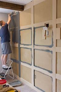 master makeover diy paneled wall jenna sue design blog With cheap wood accent wall
