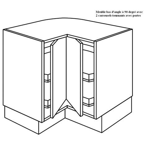 meuble de cuisine angle bas meuble d 39 angle à 2 plateaux tournants à 90 degrée