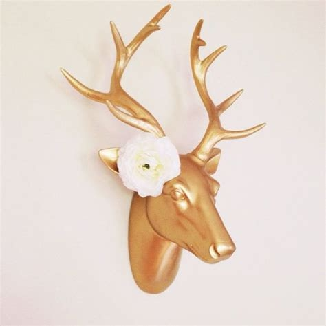 gold faux deer head gold stag antlers jewelry rack floral antlers jewelry holder display
