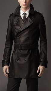 Trench Coat Burberry Homme : mid length lambskin trench coat burberry sharp as a tack leather trench coat winter ~ Melissatoandfro.com Idées de Décoration