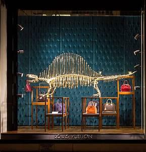 louis vuitton 39 s gilded dinosaur skeleton window installation