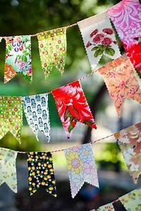 Création Avec Tissus : activit s avec les avants creation fanions en tissus anniversaire diy g ~ Nature-et-papiers.com Idées de Décoration