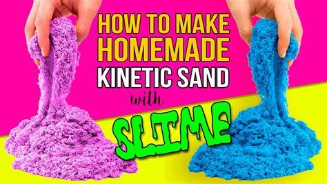 diy kinetic sand diy kinetic sand with slime how to make kinetic sand