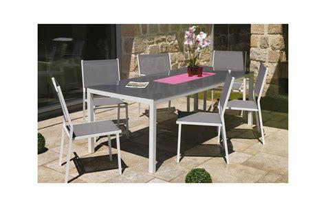 table chaises de jardin table et chaises de jardin en aluminium gris et blanc