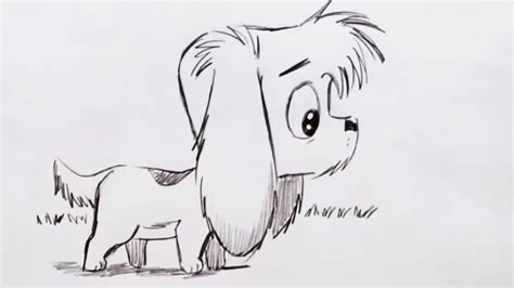 draw  cute cartoon dog step  step youtube