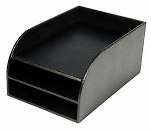 osco faux leather three tier letter tray black ebay With faux leather letter tray