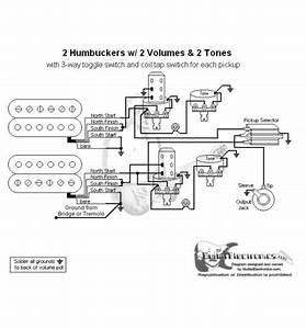 2 Humbuckers  3 2 Volumes  2 Tones