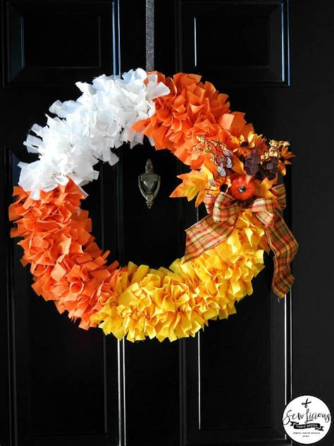 candy corn fabric wreath favecraftscom
