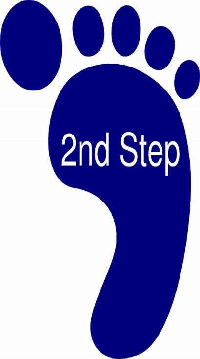 Step Second Clip 2nd Clipart Cliparts Clker