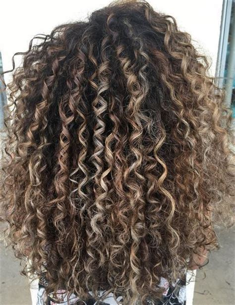 ideas  highlights curly hair  pinterest