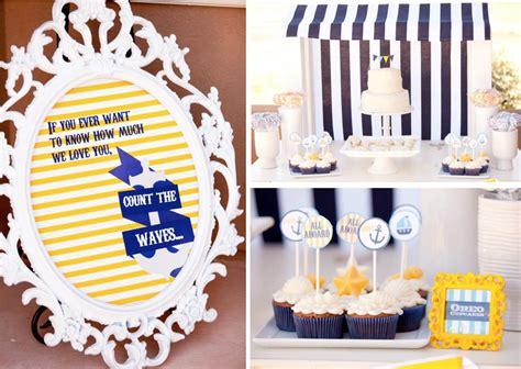 Kara's Party Ideas Ahoy Baby 1st Birthday Party Nautical