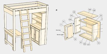 woodwork loft bed desk plans   plans
