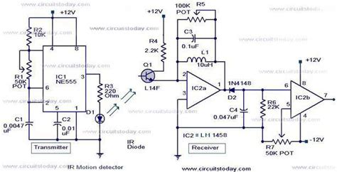 infrared motion detector circuit indianengineer
