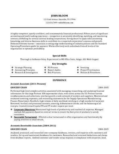 Sle Customer Service Resume Skills by Accounting Associate Resume Sle Resume