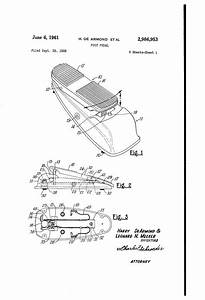 Patent Us2986953 - Foot Pedal