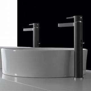 Mitigeur Noir Salle De Bain : mitigeur vasque haut design klab noir bonde treemme ~ Edinachiropracticcenter.com Idées de Décoration
