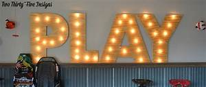 large marquee letters levelings With large marquee letters
