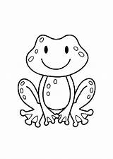 Coloring Frogs Pages Children Print Simple Frog Printable Justcolor Monkey Animals Preschool sketch template