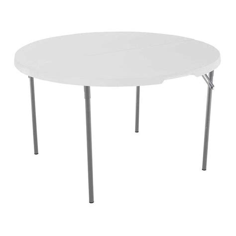 lifetime 48 in white granite fold in half table