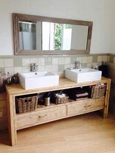 le meuble vasque un vieil etabli recupere chez mon beau With porte d entrée alu avec meuble salle de bain cooke et lewis
