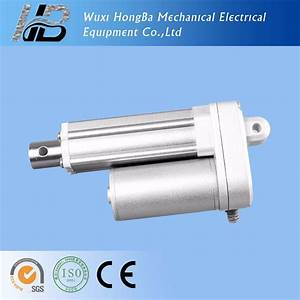 China Steel Piston Linear Actuator 12vdc  24vdc 100mm