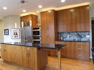 teak-kitchen-cabinets-Kitchen-Modern-with-Cherry-wood