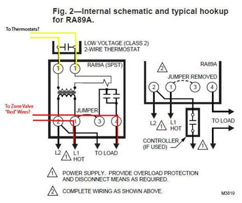 honeywell zone valve v8043e1012 connect to line