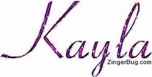 Kayla Pink Glitter Name Text Glitter Graphic, Greeting ...